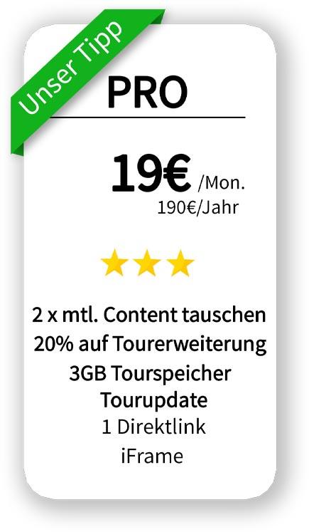 hosting Angebot für 3 GB Speicher 24 Euro pro Monat