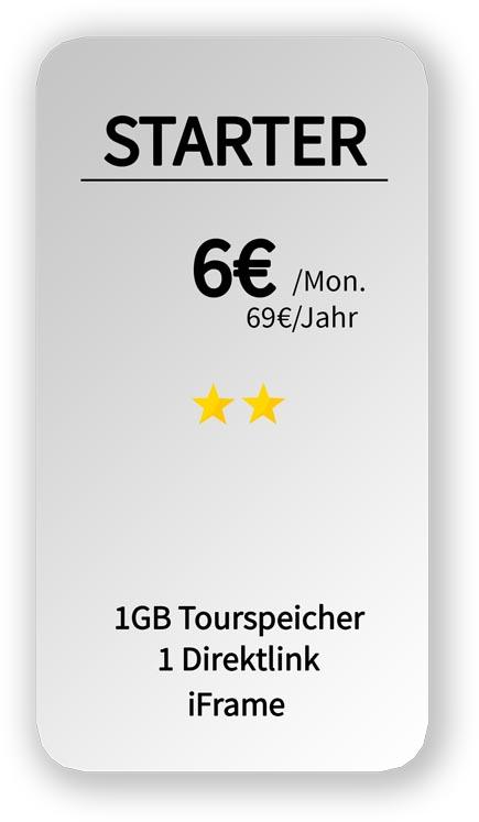 hosting Angebot für 1 GB Speicher 24 Euro pro Monat